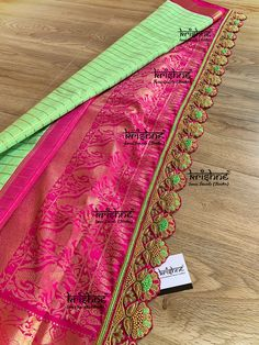 Krishne's customised saree pallu designs are exclusively handcrafted to complement your precious silk sarees for celebrating your once in a life time events. Krishne's designer tassel kuchus are our premium offering that are crafted using a combination of handcraft techniques like Aari, Crochet, Hand Embroidery, Maggam, Zardozi etc and are in the price range of ₹ 1200 ~ 5500. Call 9916253832 or Click www.krishnetassels.com/tassels to know more about placing your order.. Saree Kuchu New Designs, Saree Tassels Designs, Wedding Saree Blouse Designs, Saree Blouse Neck Designs, Cutwork Blouse Designs, Hand Work Blouse Design, Saree Border, Saree Dress, Chiffon