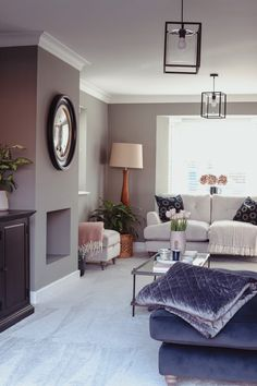 Revamping My Living Room With Karndean AD Karndean Flooring, Grey Flooring, My Living Room, Living Room Furniture, Living Room Decor, Victorian Style Homes, Victorian House, Luxury Vinyl Flooring, Faux Fireplace