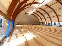 Palestra Agil Volley #Trecate, un nuovo parquet #sportivo firmato DR al posto del vetusto pvc