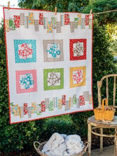 Dance of the Butterflies - Bright butterfly quilt from Australian Homespun magazine's September 2013 issue. (Designed by Clare Horsman)