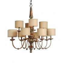 Old World Two-Tiered Chandelier