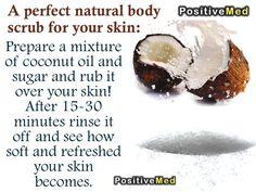 coconut scrub