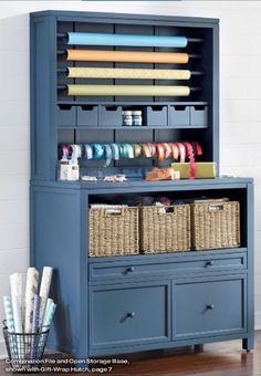 Build this style gift wrap center into guest bedroom closet   Home Decorator's Martha Stewart Collection