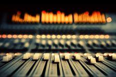 recording studio audio mixer