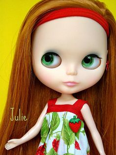 Blythe - I had a Blythe doll when I was little.  Had completely forgotten till I saw these big green eyes