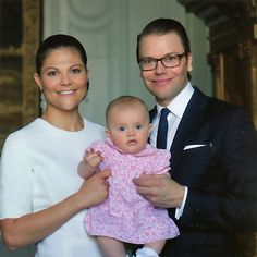 Ready for Royalty:  Crown Princess Victoria and Prince Daniel holding Princess Estelle