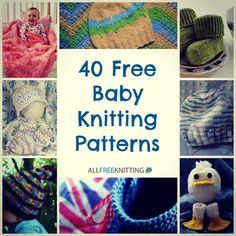 40 Free Baby Knitting Patterns