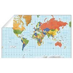 Watercolor world map world map wall art bright nursery wall art watercolor world map world map wall art bright nursery wall art watercolor map large canvas map world map push pin personalised travel map posters gumiabroncs Choice Image