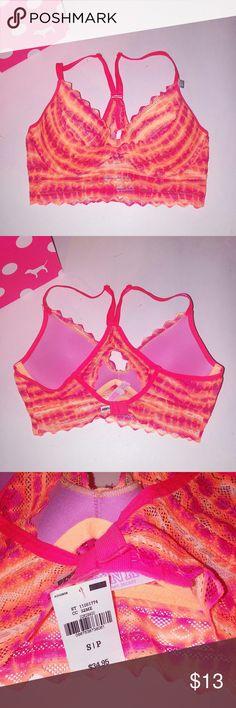 Victoria Secret PINK Bra Victoria Secret PINK  Bralette Orange Lace New with tags  Chavonne11 PINK Victoria's Secret Intimates & Sleepwear Bras