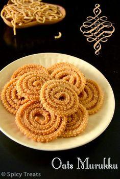 Oats Murukku Recipe North Indian Recipes, South Indian Food, Indian Food Recipes, Chinese Recipes, Savory Snacks, Yummy Snacks, Yummy Food, Indian Sweets, Indian Snacks