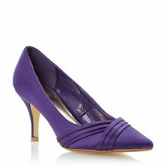 22a899a92e71 Roland Cartier Purple pleat detail pointed toe satin court shoe- at  Debenhams.com