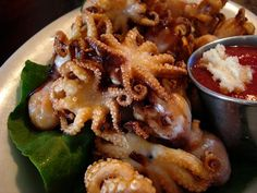 fried baby octopus