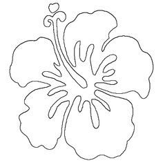 Hawaiian Flower Drawings In Pencil Gallery For Flowers Sketch Coloring Page Hawaiian Flower Drawing, Hawaiian Flower Tattoos, Simple Flower Drawing, Hawaii Flowers, Hibiscus Flowers, Exotic Flowers, Lilies Flowers, Cactus Flower, Flowers Garden