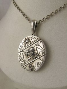 Unusual, Very Fine Antique Aesthetic Movement Victorian Locket - Full English Hallmarks