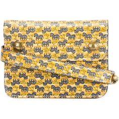Hermès Vintage Zebra Print Belt Pouch (11,285 EGP) ❤ liked on Polyvore featuring bags, vintage pouch, pouch bag, colorful bags, vintage bag and hermes bag
