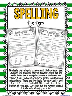 *Teaching Maddeness*: Ideas for Differentiated Spelling Instruction 2nd Grade Spelling, Spelling Test, Grade 2, Second Grade, Classroom Language, Learning Styles, Word Study, Differentiation, Homeschool Curriculum