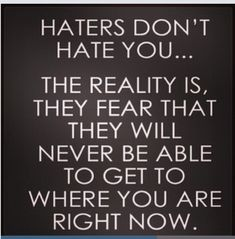 quotes about haters