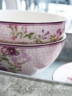 Plum floral bowls