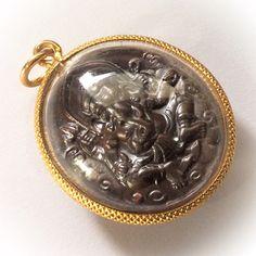 Rian Pra Pikanes Nuea Tong Daeng 2539 BE - Gold Plated Casing - Luang Por Lae Wat Pra Song (Petchburi), $119.99 U.S.