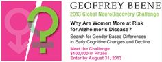 Check this out.  This 2013 Geoffrey Beene Global NeuroDiscovery Challenge focuses on the need to better understand gender-based differences in Alzheimer's disease progression and its impact on early cognitive decline. #Alzheimer's #Alz #Alzheimer's research