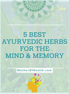 Daily stress, and mental strain, make it difficult for us to cope up with llife. Here we will explore the five best Ayurvedic herbs for the mind and memory. Ayurvedic Remedies, Ayurvedic Herbs, Ayurvedic Medicine, Ayurvedic Healing, Holistic Wellness, Holistic Healing, Natural Healing, Crystal Healing, Ayurveda