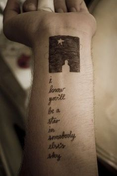 Lyric from Black by Pearl Jam. One of my favorite songs