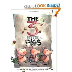 Book, The 3 Little Pigs by Marie-Louise Gay