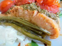 Zöldbabos batyus lazac Tuna, Fish, Meat, Ethnic Recipes, Pisces, Atlantic Bluefin Tuna