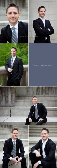 Photography Poses Ideas : Mens Professional Headshots by Danielle Lynn Photography in