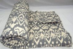 100 cotton ikat quilt king size by maharaniarts on Etsy, $129.00