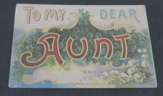 Vintage Postcard Aunt Postcard Vintage Aunt by mybonvivant on Etsy