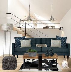 """City Loft"" by yoshigirl28 on Polyvore #interiordesign #loft #livingroom #contemporary"