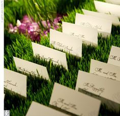grass setting for escort cards