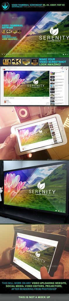 Serenity Video Thumbnail Screenshot Template By Seraphimblack On Graphicriver Are You Tired Of The Default