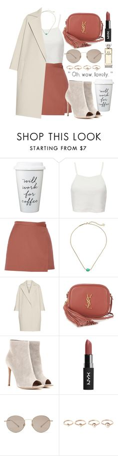 """"""""""" by burcaak ❤ liked on Polyvore featuring Pull&Bear, Theory, Kendra Scott, KaufmanFranco, Yves Saint Laurent, Gianvito Rossi, Gucci, Eddie Borgo, Chanel and StreetStyle"""
