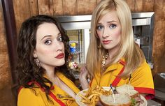 2 Broke Girls. At first I didn't like it-I thought they were trying too hard, but it grows on you.  Like Oleg.  ew.