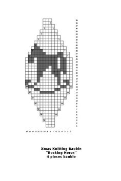 FREE Beaded Bead Pattern ___ One Segment ___ Make your own knitted Christmas baubles for your tree Knit Christmas Ornaments, Crochet Christmas Gifts, Knitted Christmas Stockings, Christmas Knitting, Christmas Crafts, Loom Beading, Beading Patterns, Fair Isle Chart, Knitted Bunnies
