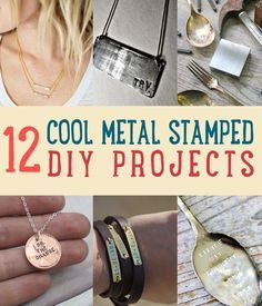 12 Cool Metal Stamped DIY Projects | Get into the art of metal stamping with these cool projects. | DIY Projects for Teens And How To Make Handmade Jewelry