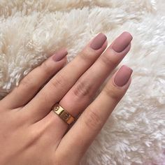 Simple rose pink matte nail manicure #nails #manicure