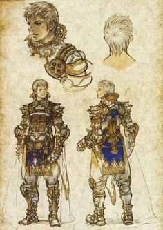 Final Fantasy 12 artwork Reks by Akihiko Yoshida