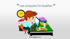 """I eat computers for breakfast"" excerpt from infographic Top 10 Funny Resume Quotes http://almagreta.com/resume-quotes-infographic/"