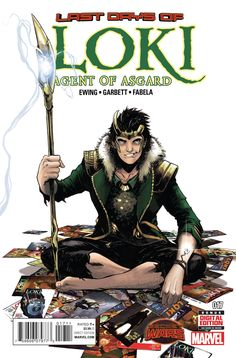 The LAST DAY of LOKI! • As the Marvel Universe dies, there's just time for one last story - the story of the showdown you've been waiting for! • It's Loki versus Loki at the very end of all that is -