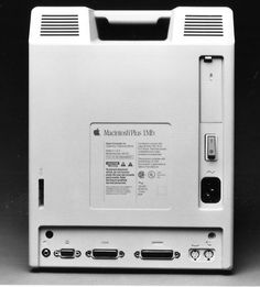 Rear view of the Apple Macintosh Plus