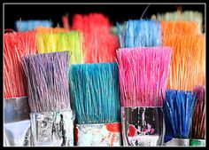 used art brushes....lovely colors!  with <3 from JDzigner. www.jdzigner.com