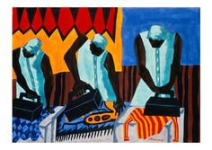 From the Migration Series, Jacob Lawrence.  The series was divided between the Phillips Collection and MOMA.