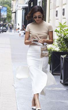 Nicole Warne - Paris Fall 2016 Haute Couture Fashion Week Street Style - July…