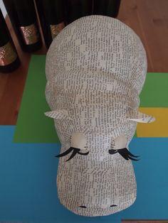 Hippo - paper mache sculpture - Janaki Lele Paper Crafts - The Ultimate Craft Ideas Paper crafts had Paper Mache Projects, Paper Mache Clay, Paper Mache Crafts, Paper Mache Sculpture, Diy Art Projects, Clay Crafts, Hippo Crafts, Jungle Crafts, Paper Mache Animals
