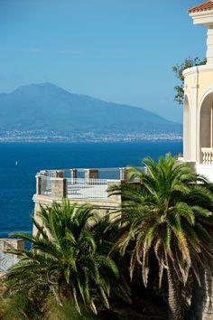 View from Sorrento to Mt.Vesuvius, Italy