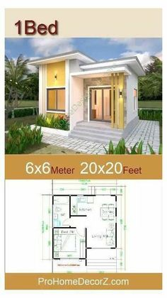 Small House Layout, Modern Small House Design, House Layout Plans, Small Modern Home, Small House Floor Plans, Tiny House Design, Small Modern House Exterior, Micro House Plans, Small Modern Bedroom