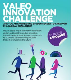 Are You An Engineering Student Eager To Take Part In A Global Challenge? Play an active role in automotive innovation: design the product or system that will create smarter & more intuitive cars by 2030 and develop daring solutions that will revolutionize the future.  Register by February 14, 2014  http://www.srmuniv.ac.in/node/9658 http://www.srmuniv.ac.in/downloads/flyer_valeo_innovation_challenge.pdf